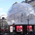 Eros Statue snow globe and advertising boards.  Photo by Eugenie Absalom