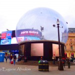 Eros Statue covered in a Snow Globe for Christmas 2013.  Photo by Eugenie Absalom