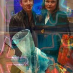 Eugenie Absalom and singer songwriter Frazer Kennedy at High Time CD launch at La Galleria Pall Mall in London