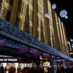 House of Fraser Christmas lights 2013, Oxford Street. Photo by Eugenie Absalom