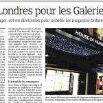 Le Figaro article - House of Fraser photo by Eugenie Absalom