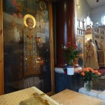 Icon at the Russian Orthodox Cathedral in Knightsbridge, London. Photo by Eugenie Absalom